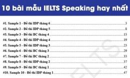 Tuyển tập bài mẫu IELTS Speaking (Full part 1, 2 & 3)