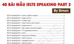Tổng hợp bài mẫu IELTS Speaking Part 3 hay nhất