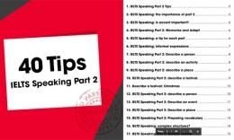 40 Tips để chinh phục IELTS Speaking Part 2 dễ dàng