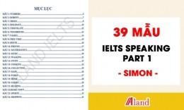 Trọn bộ 39 bài mẫu IELTS Speaking Part 1 - Simon IELTS