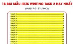 Tổng hợp 18 bài mẫu IELTS Writing Task 2 hay nhất - Band 9.0