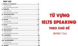 Trọn bộ từ vựng IELTS Speaking theo chủ đề [Band 7.5+]