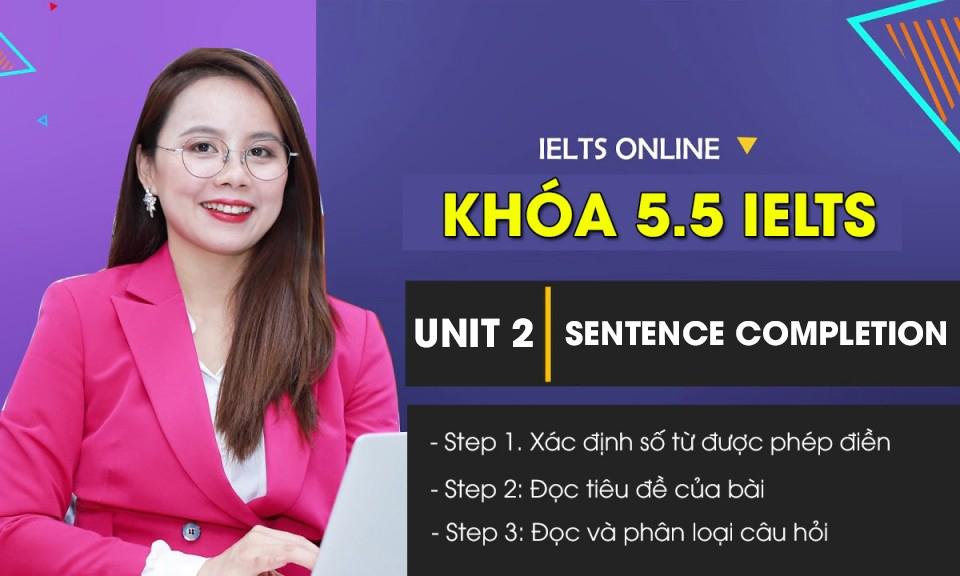 Unit 2: Sentence Completion