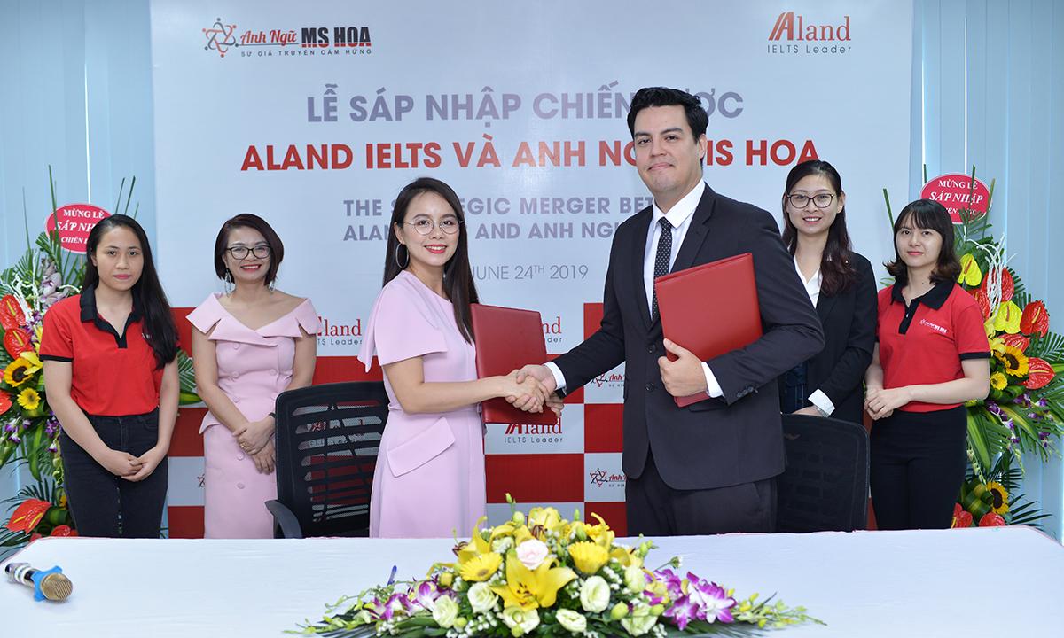 lễ sáp nhập chiến lược Aland IELTS cùng Anh ngữ Ms Hoa
