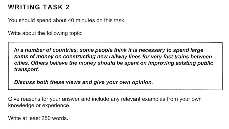 example ielts writing task 2