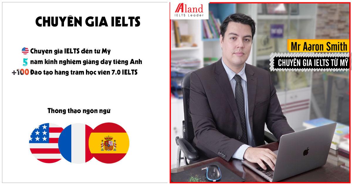 Thầy Aaron - chuyên gia IELTS | Aland IELTS
