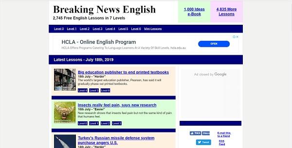Breaking new English