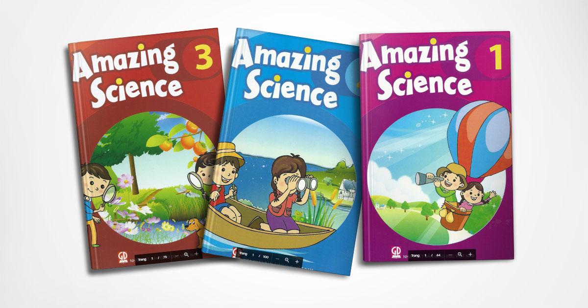 Trẻ học tiếng Anh toàn diện cùng Amazing Science 1, 2, 3 - Aland English