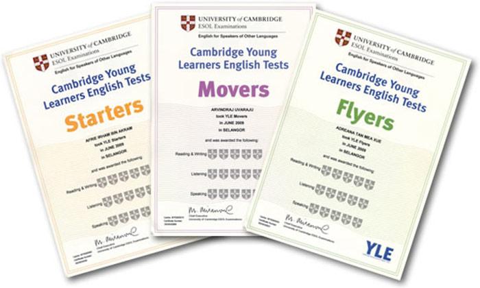 List chứng chỉ starters movers của đh cambridge