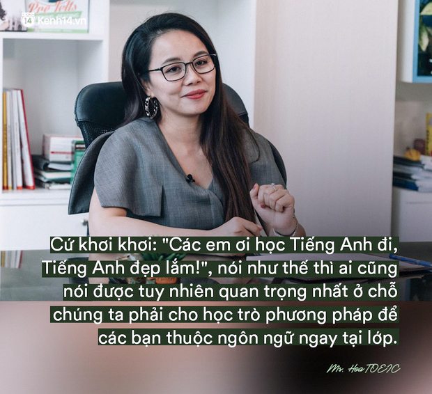Ms Hoa chia se ve viec day tieng anh 2