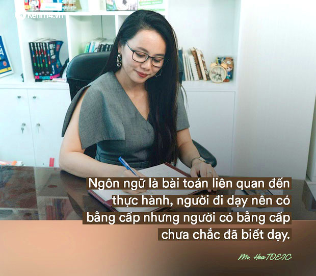 Ms Hoa chia se ve viec day tieng anh