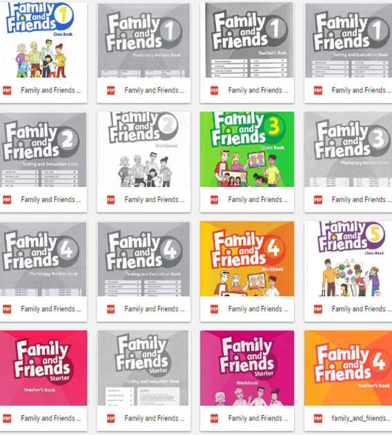 Trọn bộ sách tiếng Anh Family & Friends Level 1, 2, 3, 4, 5, 6